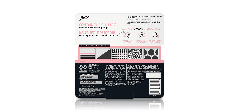 Ziploc® Brand Accessory Bag – back of pack
