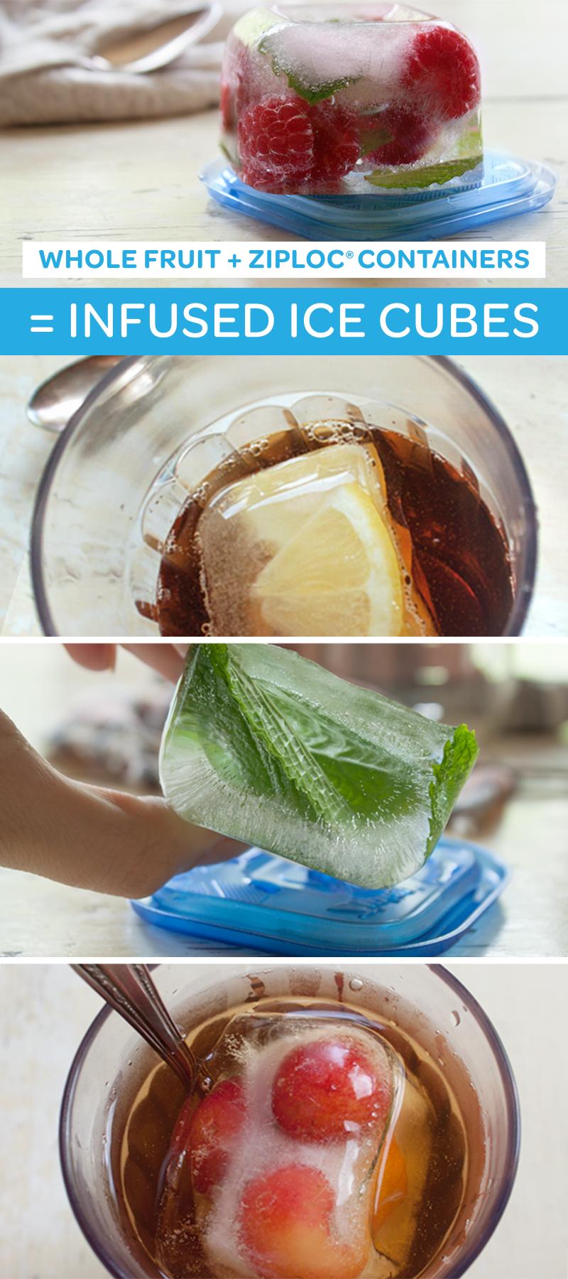 Fáciles cubitos de hielo aromatizados