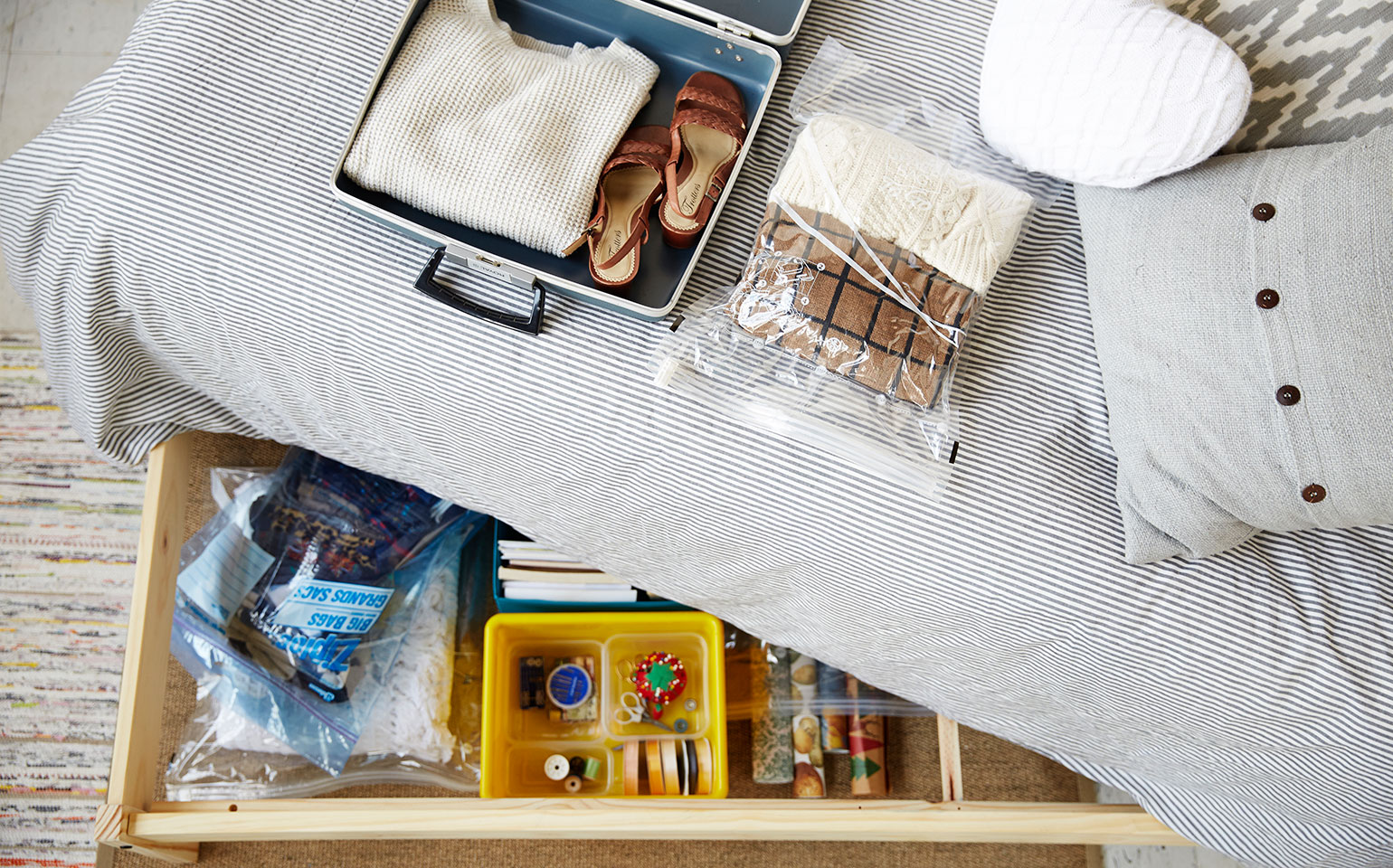 6 Tips To Organize The Monster Under Your Bed