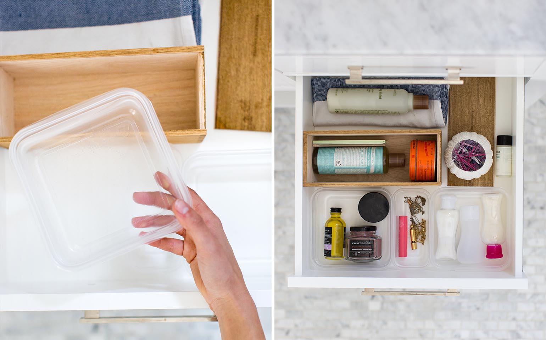 Bathroom Organization Solutions with Ziploc® brand