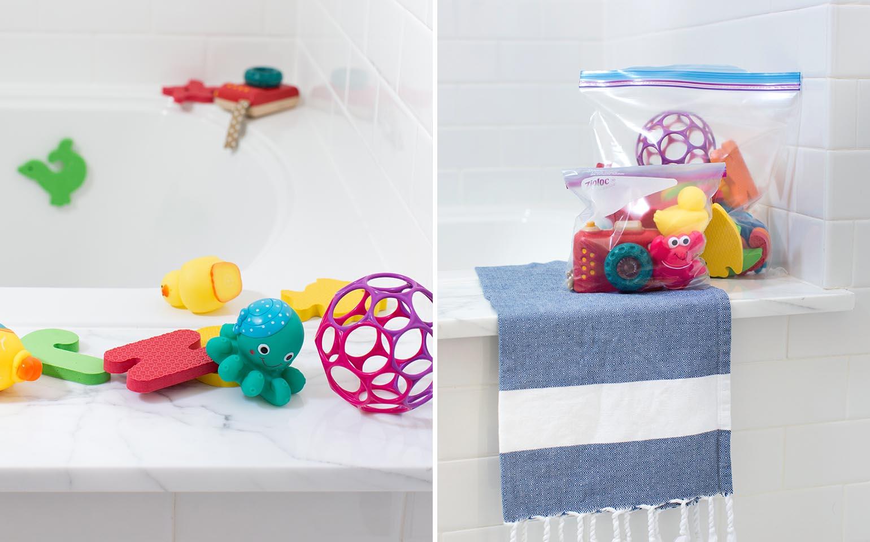 Soluciones para la organización del baño con Ziploc®