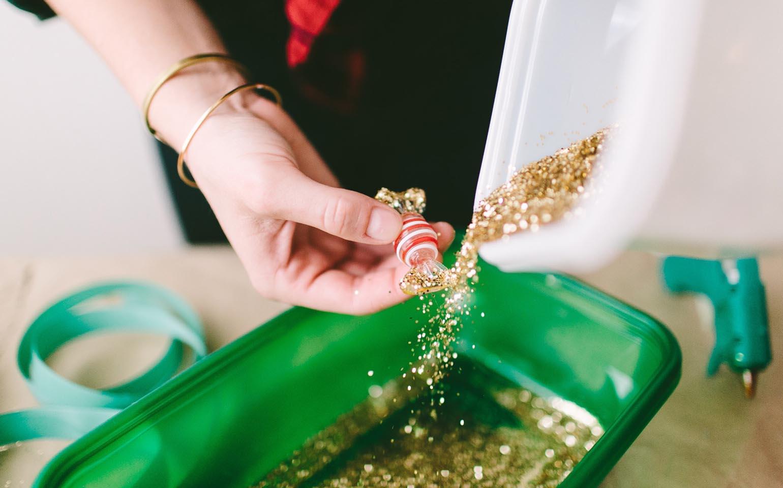 DIY Glitter-Encrusted Magnets