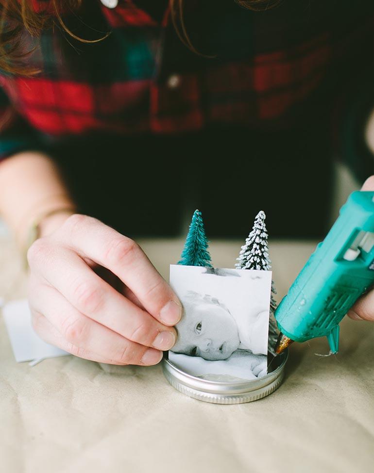 DIY Homemade Snow Globe