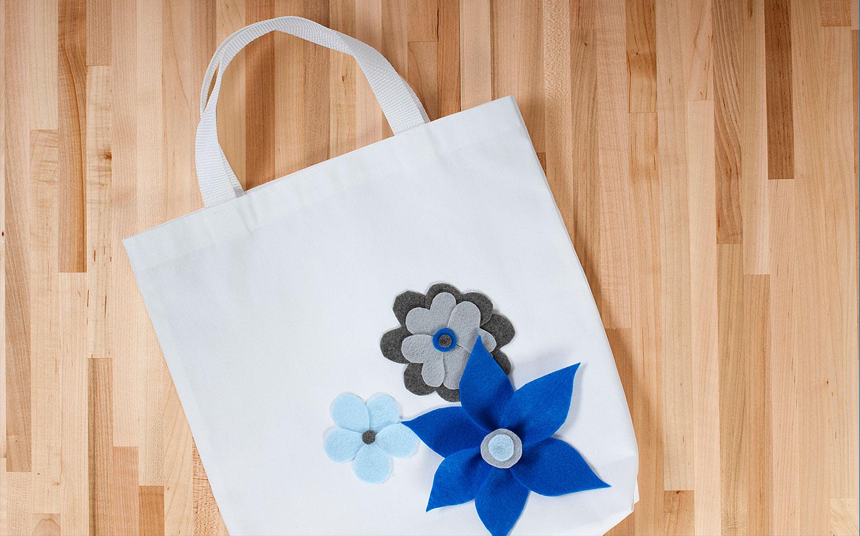 Hazlo tú mismo: Bolsa de compras con flores sin costura