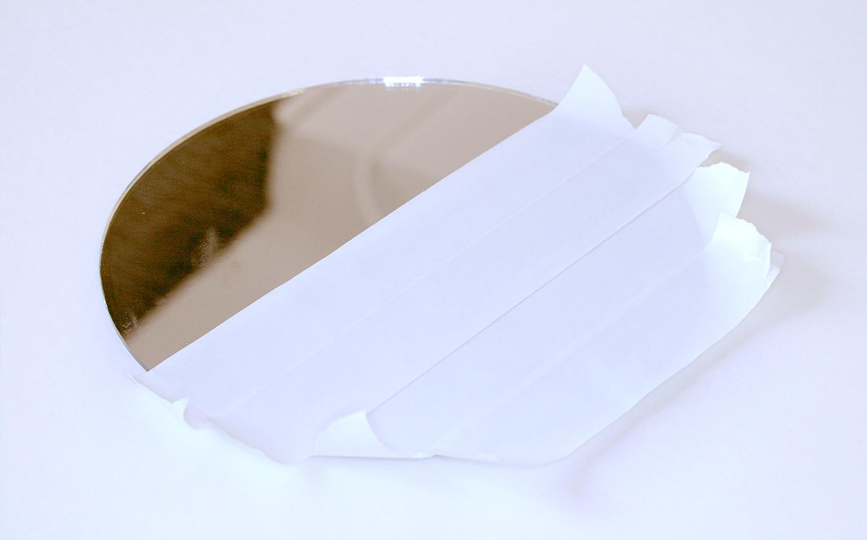 DIY Snowflake Accent Mirror