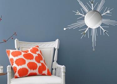 Hazlo tú mismo: Espejo decorado como copo de nieve