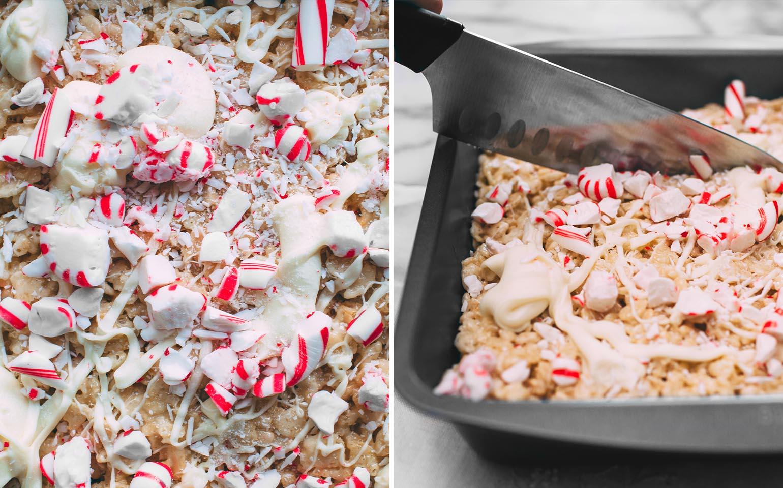 Refrigerios sofisticados de cereal y malvavisco