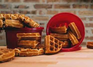 Waffles sofisticados