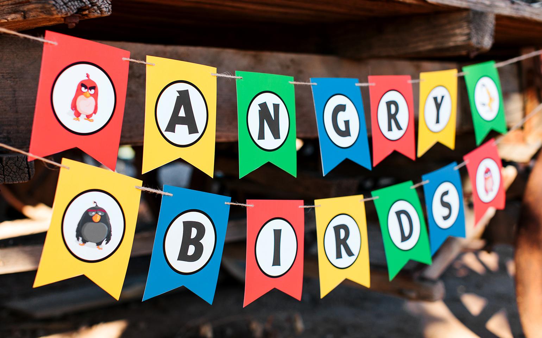 Arma una fiesta con la película The Angry Birds