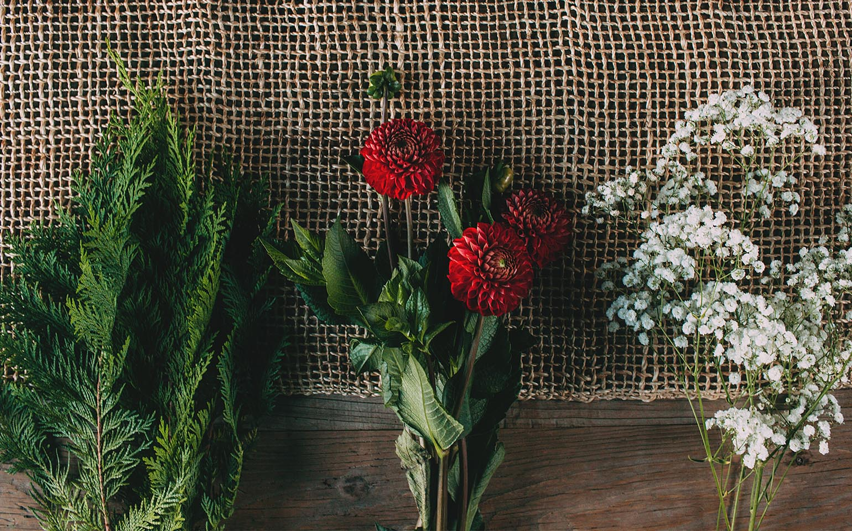 Arreglo floral de Ziploc