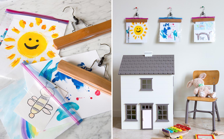 De la puerta del refrigerador al marco: Cómo exhibir y guardar las obras de arte de tus hijos