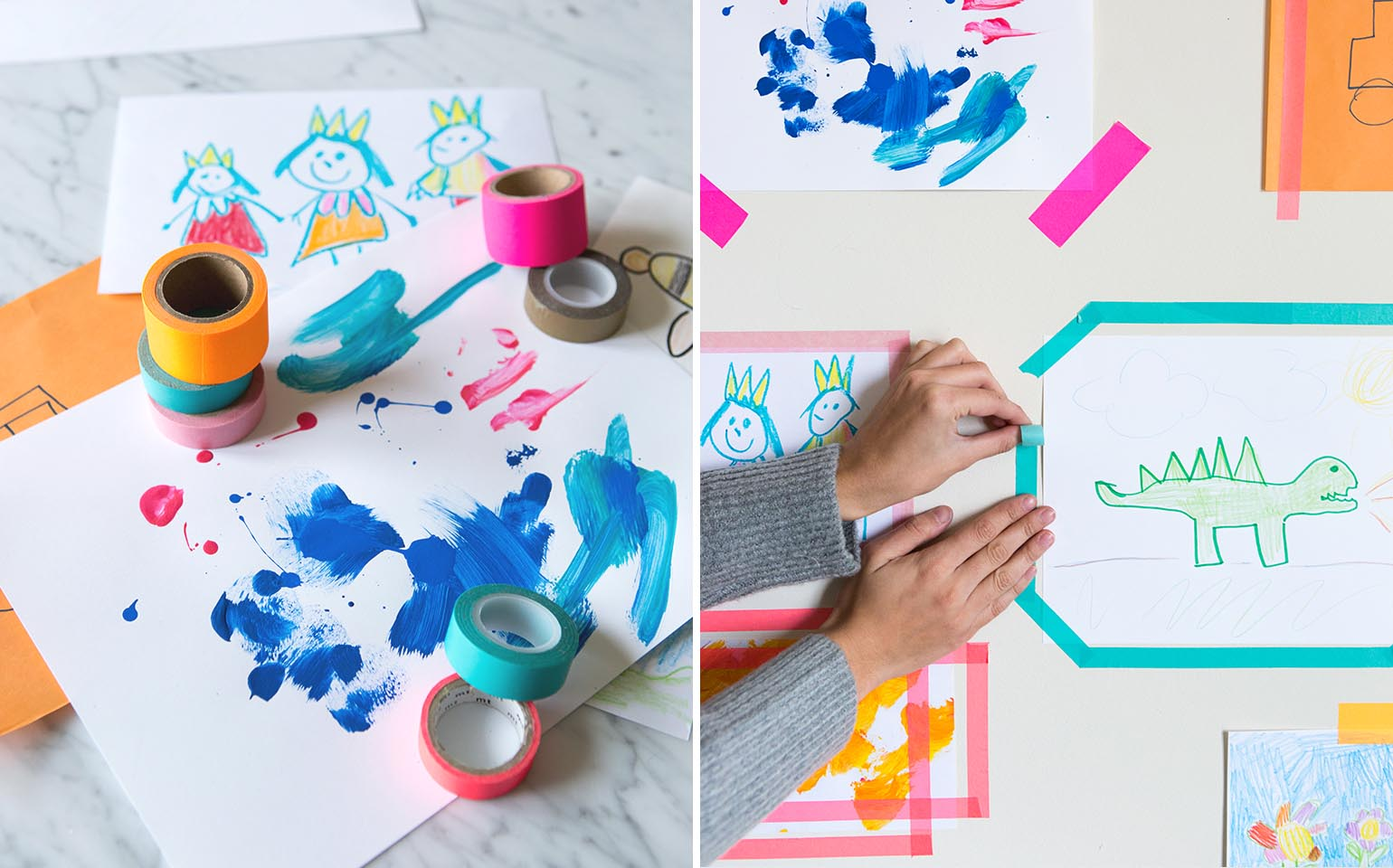 From Fridge To Frame: How To Display And Store Your Kid's Artwork