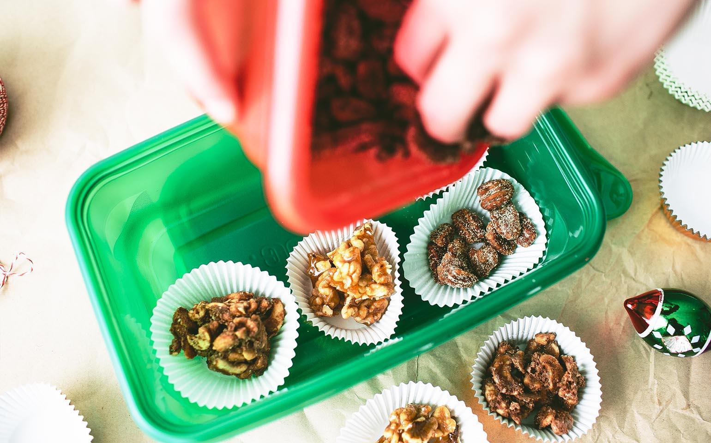 Mezclas de frutos secos para días festivos