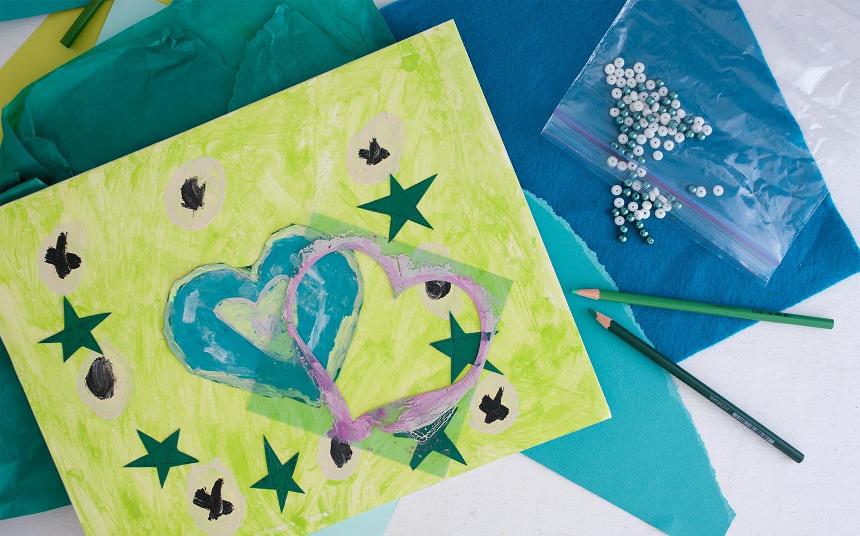 Obras de arte con manualidades para niños