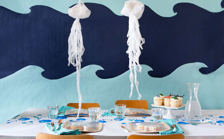 Fiesta de cumpleaños temática bajo el mar de último minuto