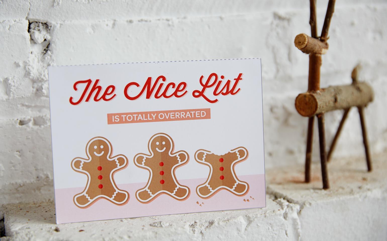 Tarjetas festivas con mensajes honestos