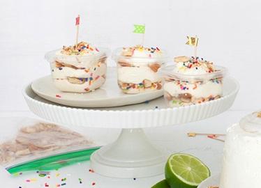 Gâteaux sans cuisson dans un contenant