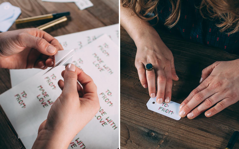 Des étiquettes pour cadeaux avec une touche artisanale