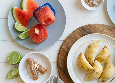 Refrigerios simples con sabor latino