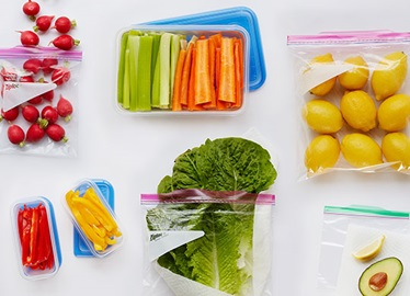 Storing produce with Ziploc® brand