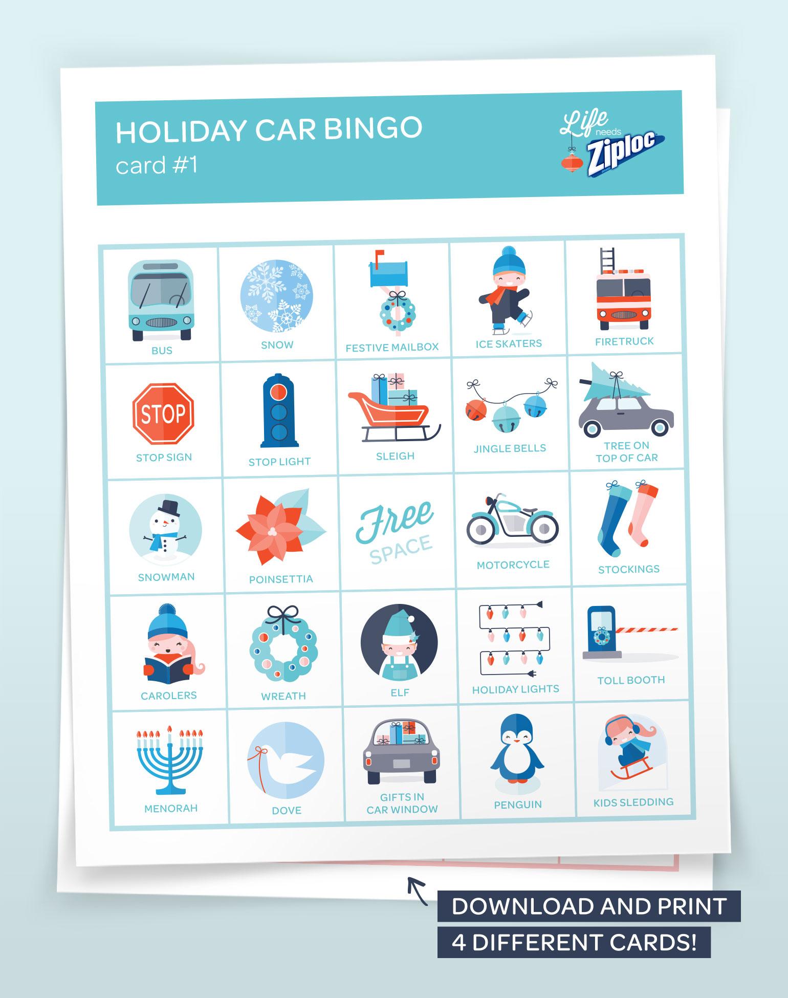 Survivre aux voyages en voiture du temps des Fêtes grâce au bingo en voiture