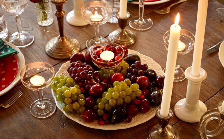 Ornements de table de bon goût