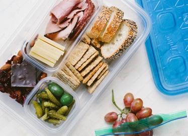 Un almuerzo simple de labrador