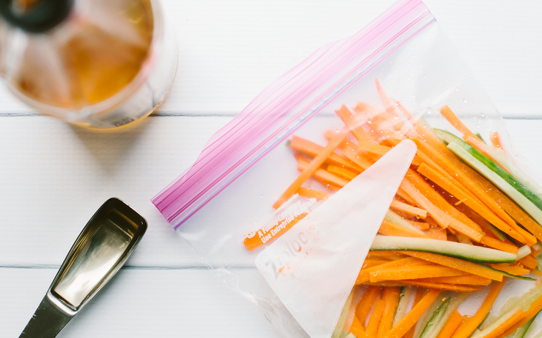 Avocado, Cucumber, and Carrot Tofu Rolls with Chili Garlic Peanut Sauce