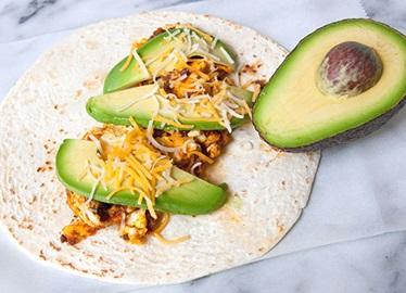 Burritos déjeuner au chorizo et aux œufs