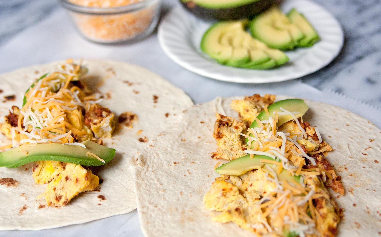 Breakfast Burritos with Chorizo and Eggs