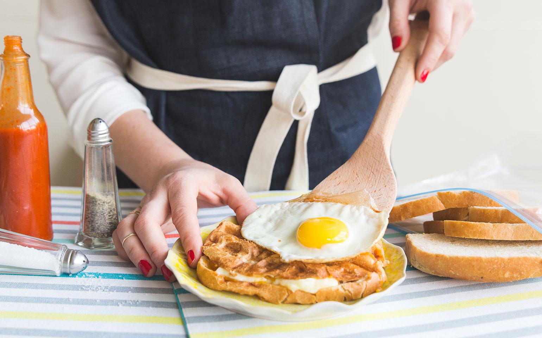 Tostado de queso para el desayuno