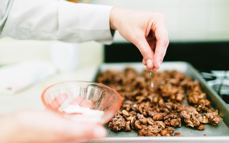 Anacardos con cacao y sal marina