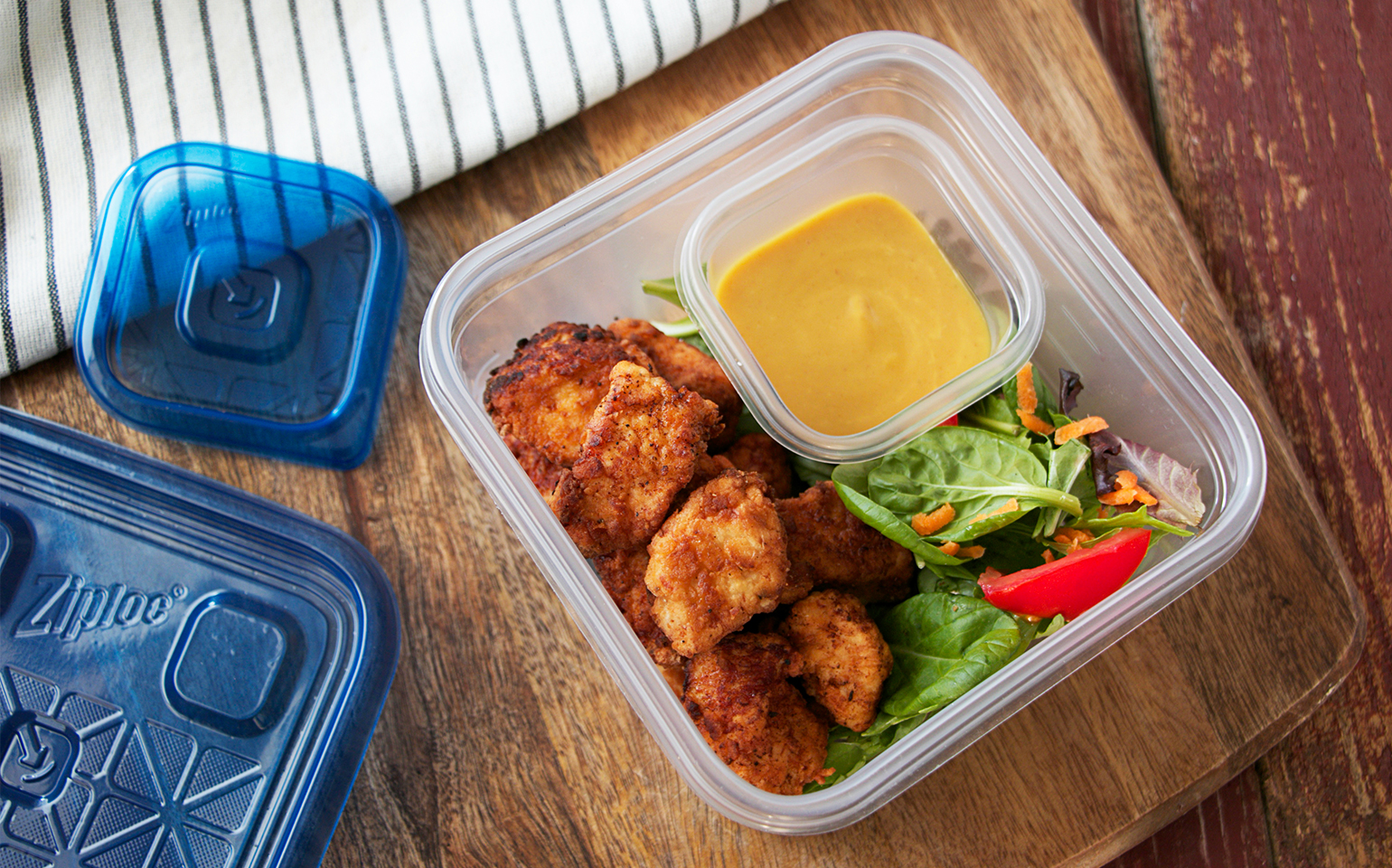 Copycat Chicken Nuggets with Honey Mustard Dipping Sauce