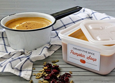 Sopa cremosa de calabaza a las cinco especias