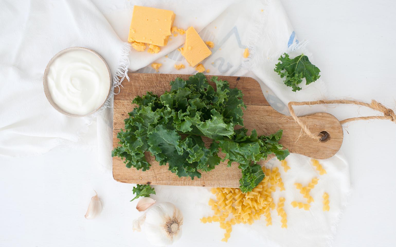 Macarrones con queso con salsa cremosa de yogurt
