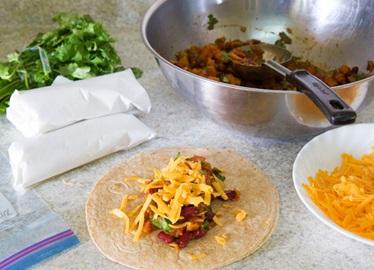 Freezer-Friendly Veggie Burritos