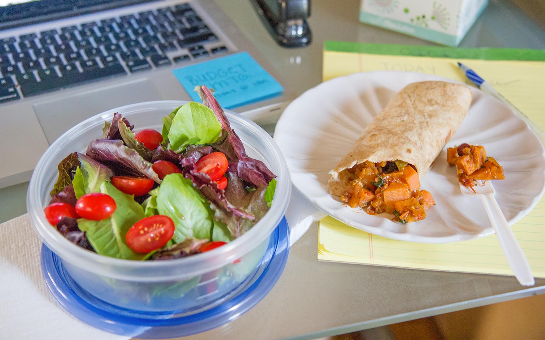 Burritos vegetarianos aptos para congelador