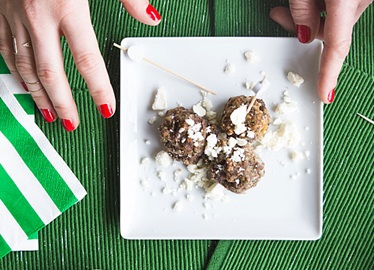 Greek Meatballs On A Stick