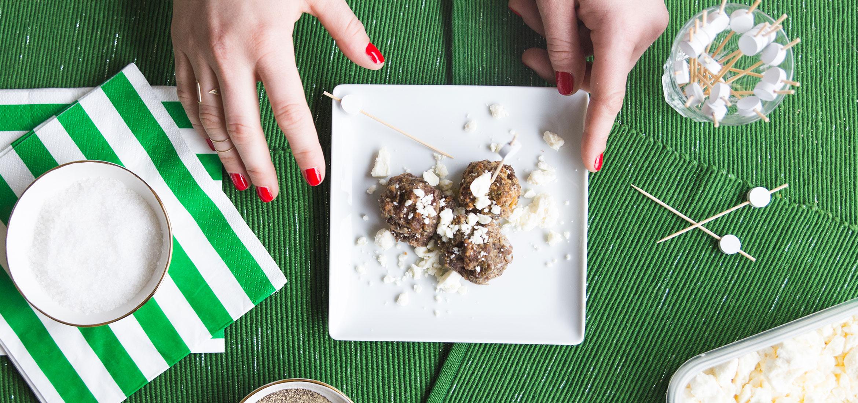 Greek Meatballs On A Stick