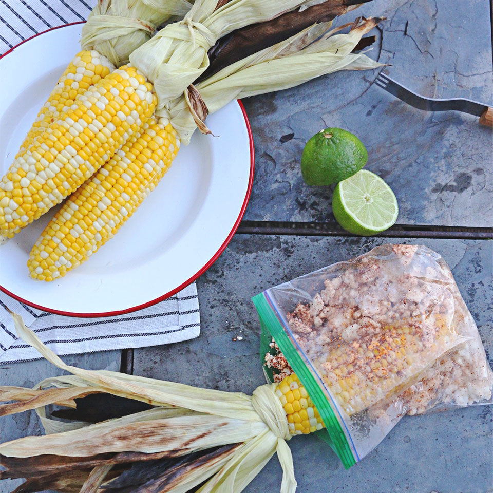Grilled Corn with Queso Fresco, Chili Powder, and Lime