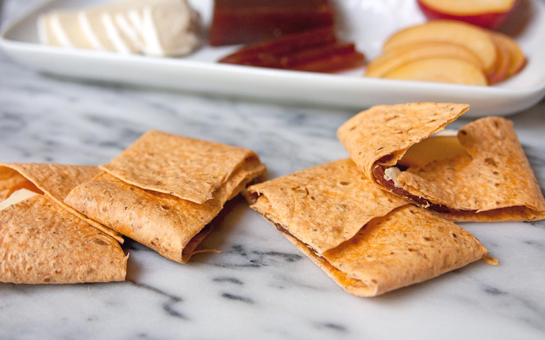 Wrap de pasta de Guayaba y queso Brie