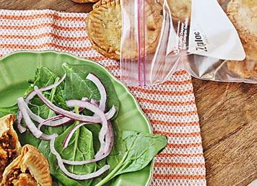 Pasteles de chile para comer con la mano