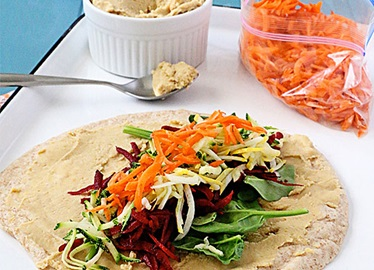 Hummus and Veggie Wraps