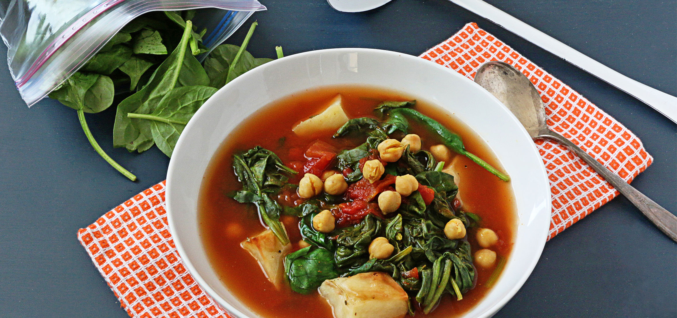 Indian Chickpea and Spinach Stew