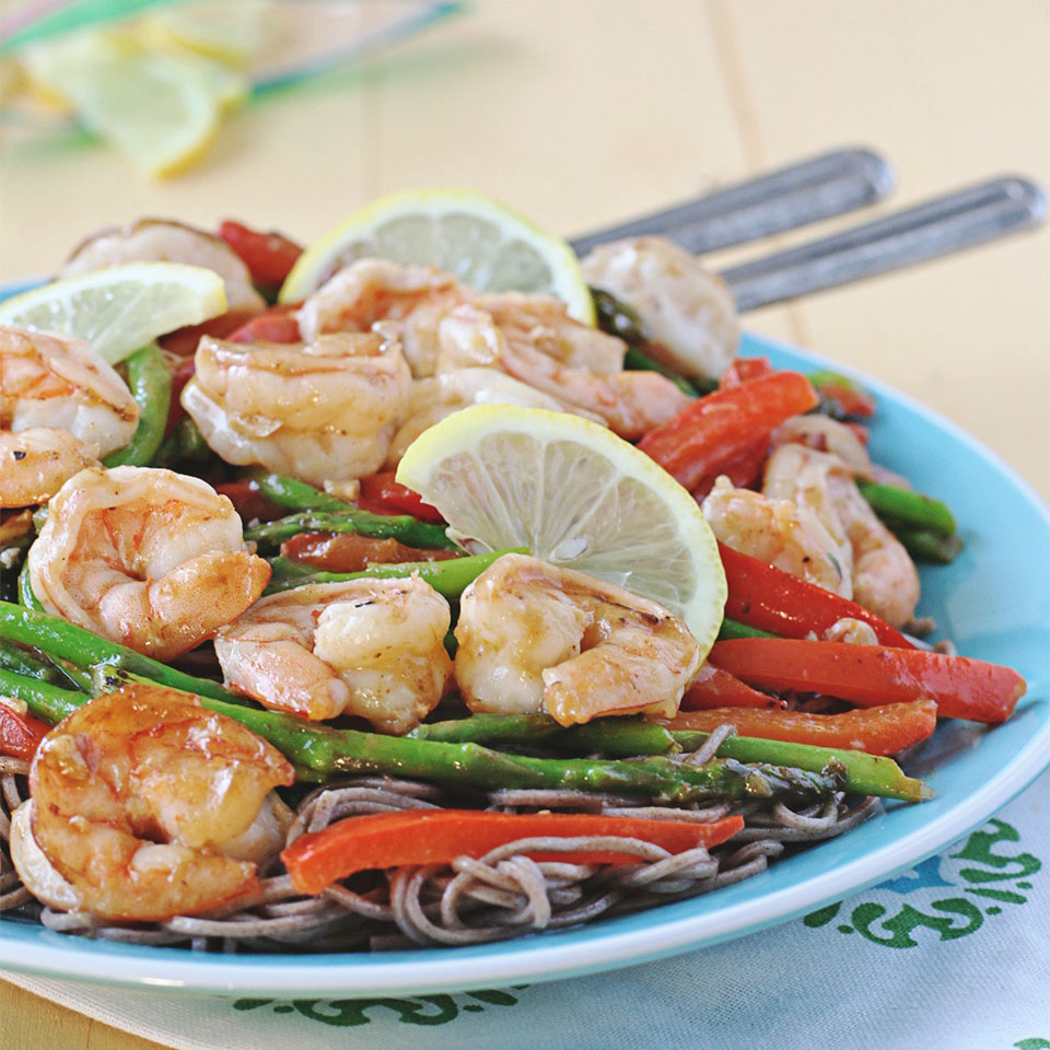 Lemon-Garlic Shrimp Stir Fry