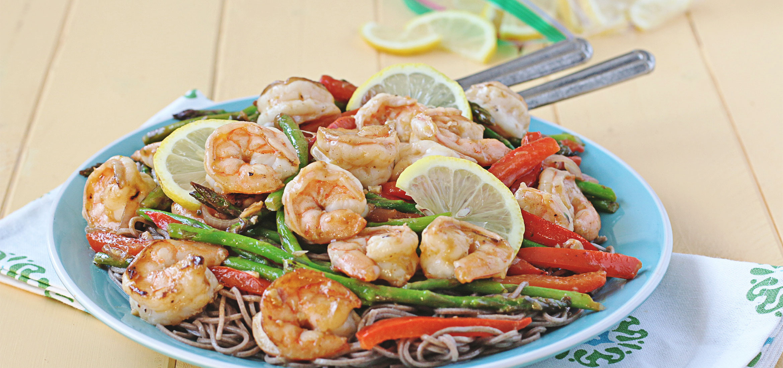 Lemon-Garlic Shrimp Stir Fry