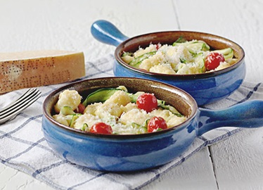 Make-In-A-Ziploc®-Bag Gnocchi with Zucchini and Tomatoes