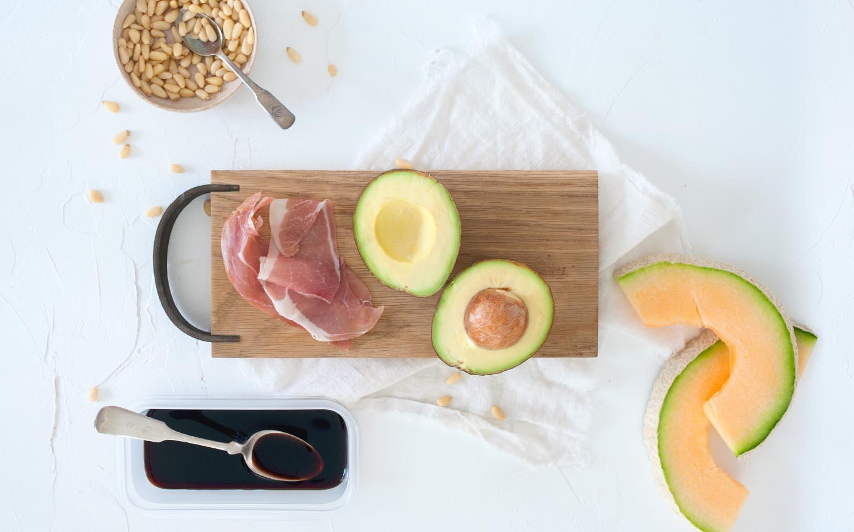 Melon and Avocado Dip with Prosciutto