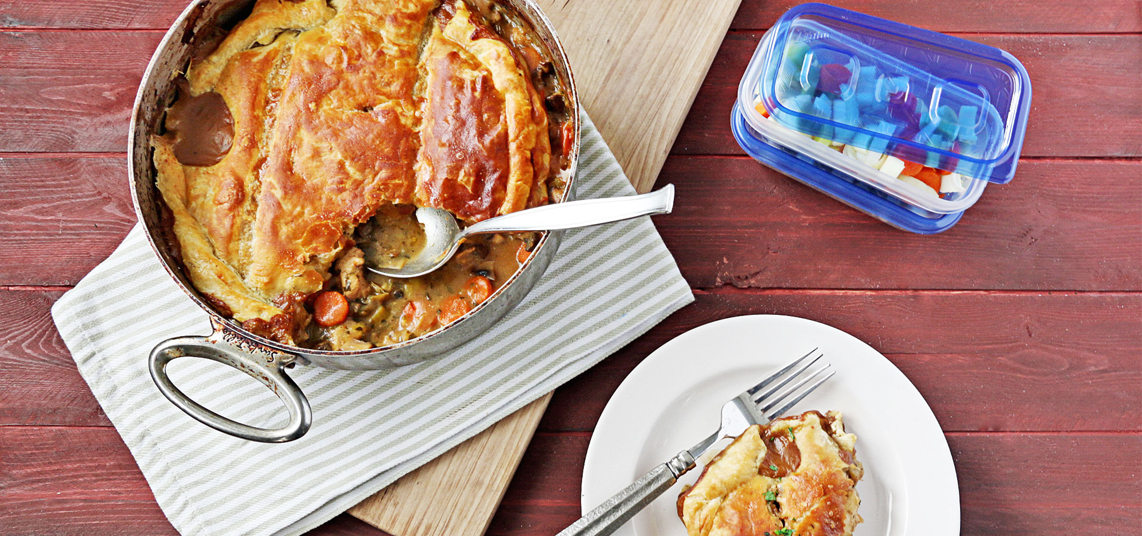 Miso Chicken Pot Pie Casserole