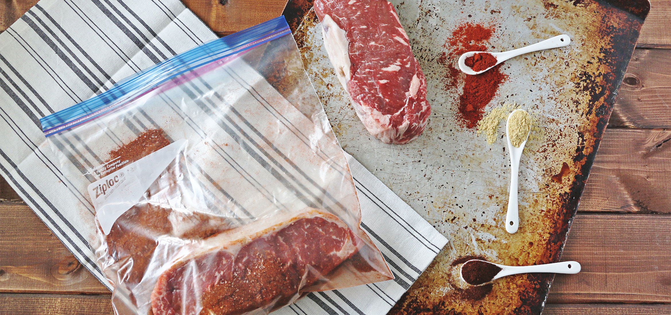 No-Mess Marinade: Smoked Paprika Dry-Rubbed Steaks
